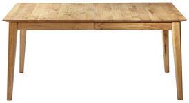ESSTISCH in massiv Wildeiche Eichefarben - Eichefarben, Design, Holz (160(240)/90/76cm) - Linea Natura