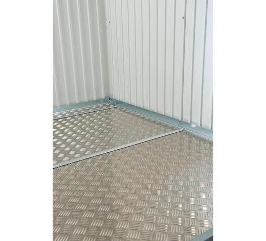 BODENPLATTE 79,5/0,02/69,5 cm - Alufarben, Design, Metall (79,5/0,02/69,5cm) - Biohort