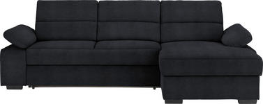 WOHNLANDSCHAFT in Textil Grau - Dunkelbraun/Grau, KONVENTIONELL, Kunststoff/Textil (258/166cm) - Cantus