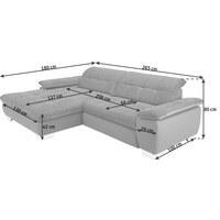 SEDACÍ SOUPRAVA, šedá, textilie - šedá/barvy chromu, Design, kov/textilie (180/265cm) - Carryhome