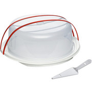KUCHENTRANSPORTBOX - Transparent/Rot, Basics, Kunststoff (30/14cm) - EMSA
