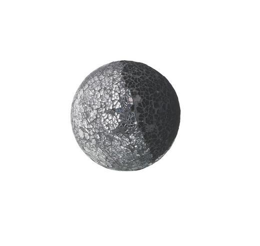 DEKOKUGEL - Schwarz/Grau, Basics, Glas/Stein (13cm) - Ambia Home