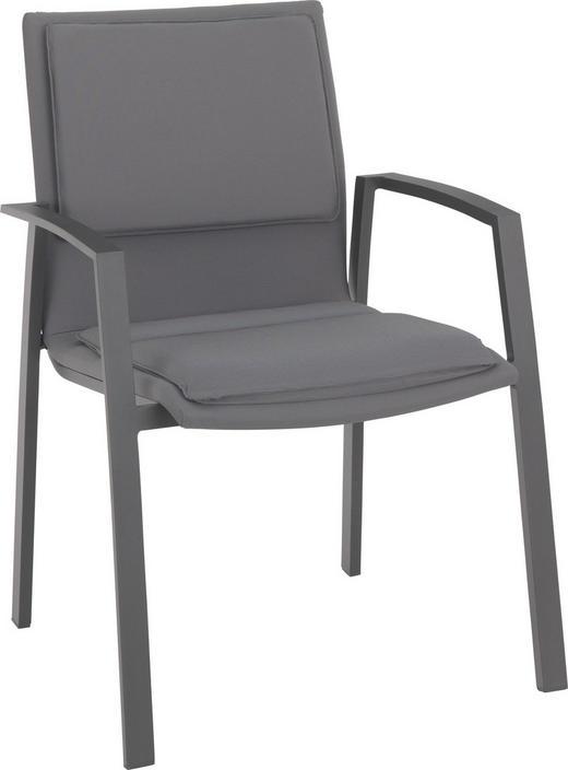STAPELSESSEL Aluminium Anthrazit, Grau - Anthrazit/Grau, Design, Textil/Metall (58/91/63cm) - AMATIO