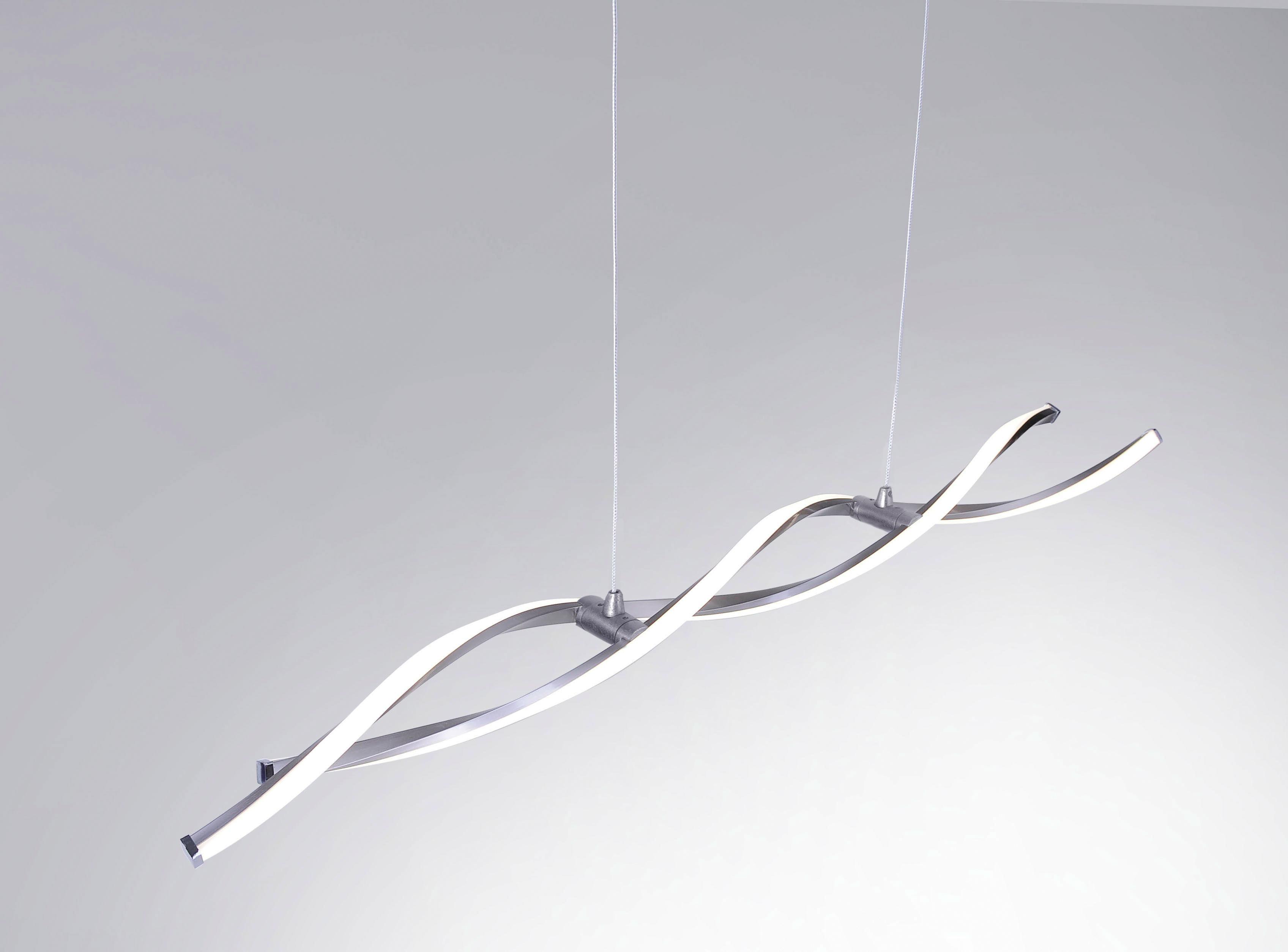 LED-PENDELLAMPA - nickelfärgad, Design, metall (110/8/40-140cm)
