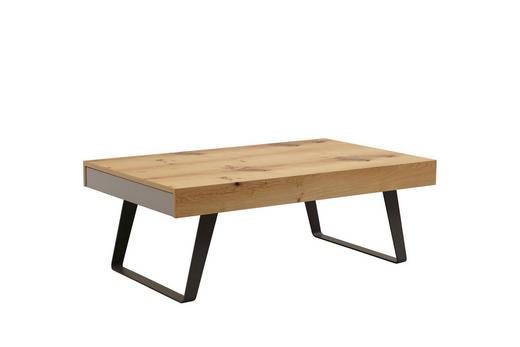 COUCHTISCH Eiche furniert rechteckig Eichefarben, Fango, Honig - Fango/Eichefarben, Design, Holz/Metall (125/45/75cm)