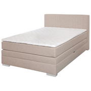 BOXSPRING KREVET - bež, Design, tekstil (140/105/200cm) - HOM IN