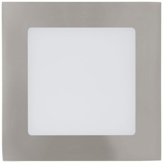EINBAULEUCHTE Fueva - Silberfarben/Weiß, Design, Metall (12/12cm)