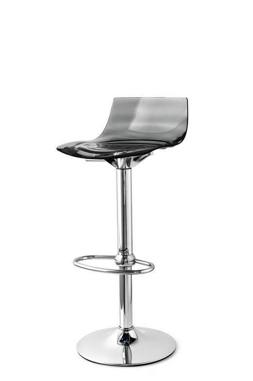 BARHOCKER in Schwarz - Chromfarben/Schwarz, Trend, Kunststoff/Metall (42,5/98 (76) /45cm)