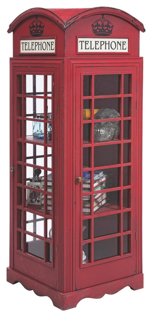 SCHRANK lackiert Rot - Rot, Basics, Glas/Holzwerkstoff (53/140/51cm) - KARE-Design