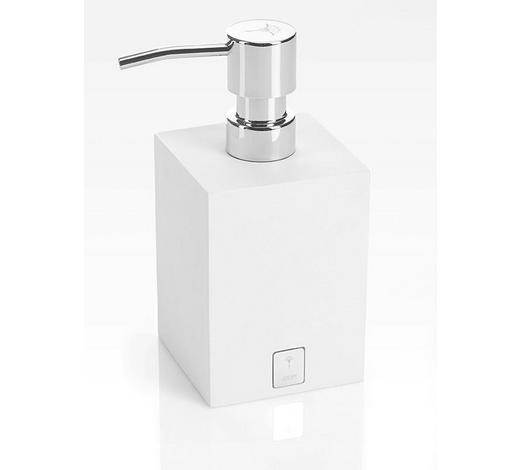 SEIFENSPENDER - Chromfarben/Weiß, Basics, Kunststoff (7,5/17/7,5cm) - Joop!