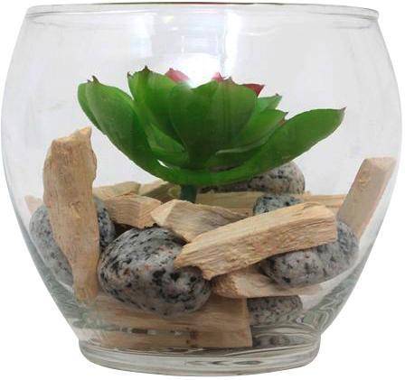DEKORATIONSVÄXT - multicolor, Basics, ytterligare naturmaterial/glas (13,5/11,7cm) - Ambia Home