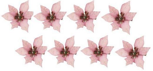 Dekoclip-Set 8-tlg. - Rosa, Kunststoff/Metall (7/4,5cm)