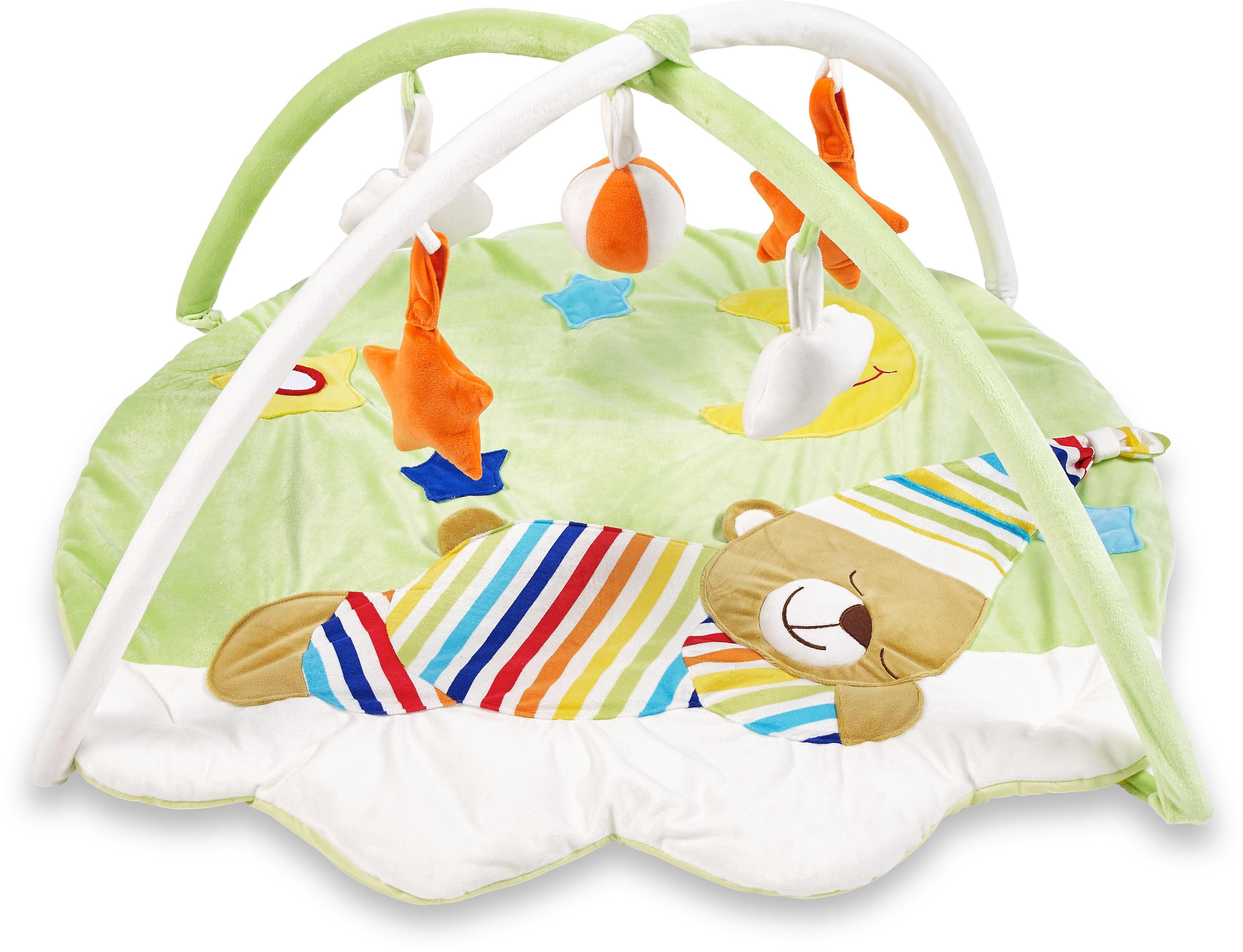3in1 Krabbeldecke Spieldecke Spielbogen Spielmatte Erlebnisdecke Musik Baby Gym GläNzende OberfläChe Spielzeug