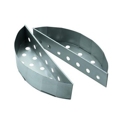 KOHLEKORB 2ER SET - Silberfarben, Basics, Metall (33,5/10,5/19,5cm)