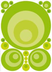 DEKOSTICKER - Hellgrün, Design, Kunststoff (50/70cm) - EUROGRAPHICS