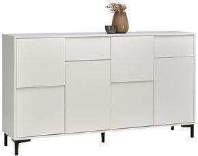 SIDEBOARD - vit/grafitfärgad, Trend, träbaserade material/plast (163/92/38cm) - Carryhome