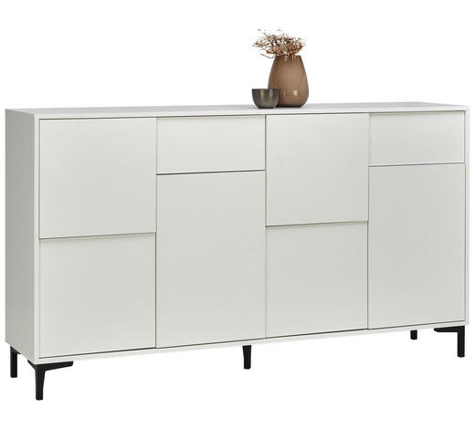 SIDEBOARD 163/92/38 cm - Graphitfarben/Weiß, Trend, Holzwerkstoff/Kunststoff (163/92/38cm) - Carryhome
