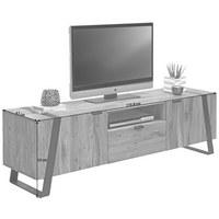 Tv-element in Eichefarben, Schwarz - Eichefarben/Schwarz, Trend, Holz/Metall (172,8/52/47cm) - Landscape