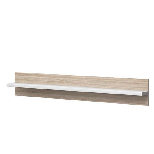 WANDPANEEL Melamin Eichefarben, Weiß - Eichefarben/Weiß, Design (200/32/20cm) - Xora