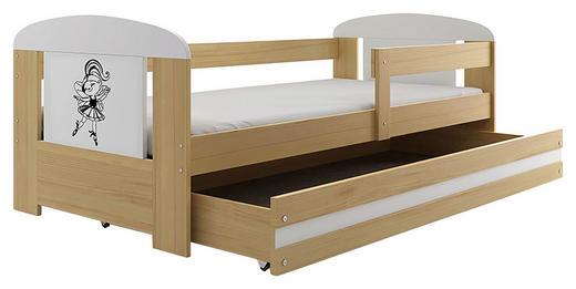 KINDER-/JUNIORBETT - Weiß/Kieferfarben, MODERN, Holz/Holzwerkstoff (80/160cm)