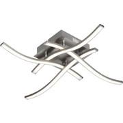 LED-DECKENLEUCHTE - Alufarben, Design, Kunststoff/Metall (46/46/10cm) - NOVEL