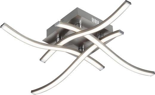LED STROPNÍ SVÍTIDLO - barvy hliníku, Design, kov/umělá hmota (46/46/10cm) - NOVEL