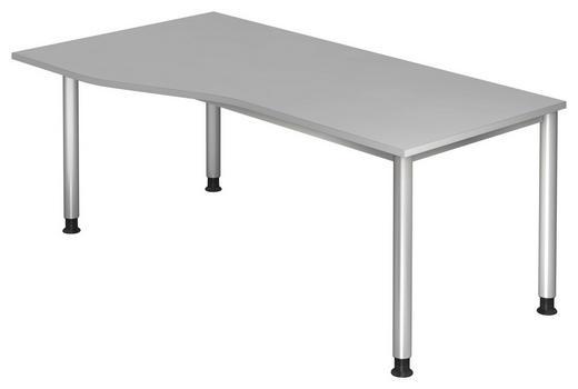 SCHREIBTISCH Grau, Silberfarben - Silberfarben/Grau, KONVENTIONELL, Metall (180/68-76/80/100cm)