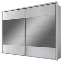 ORMAR S KLIZNIM VRATIMA - bijela/boje aluminija, Design, drvni materijal/plastika (279/215/60cm) - Xora