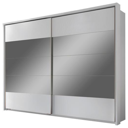 SCHIEBETÜRENSCHRANK 2-türig Weiß - Alufarben/Weiß, Design, Holzwerkstoff/Kunststoff (279 215 60cm) - Xora