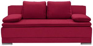 SCHLAFSOFA in Textil Rot  - Chromfarben/Rot, MODERN, Kunststoff/Textil (200/100/97,5cm) - Carryhome