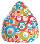 SITZSACK 120 L  - Türkis/Multicolor, Design, Textil (90/70cm) - Carryhome