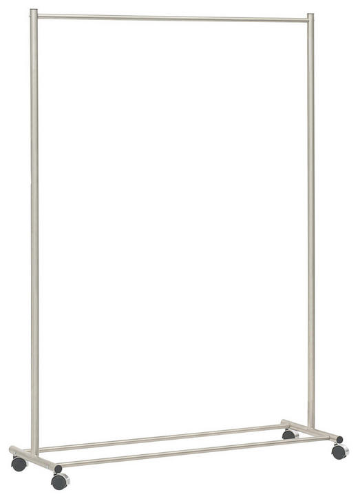 KLEIDERWAGEN Edelstahlfarben - Edelstahlfarben, Design, Kunststoff/Metall (120/170/43cm)