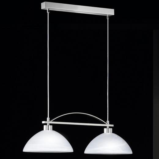HÄNGELEUCHTE - Weiß, KONVENTIONELL, Glas/Metall (65cm)