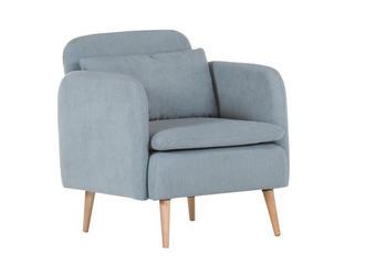 FOTELJ  svetlo modra tekstil - naravna/svetlo modra, Design, tekstil (70/80/75cm) - Carryhome