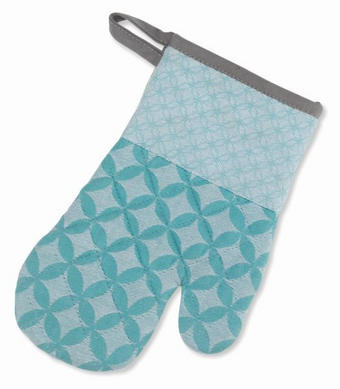 KUHINJSKA ROKAVICA CARLA - modra/siva, Konvencionalno, tekstil (18/28cm) - Kela