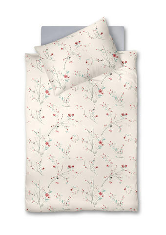 POSTELJNINA 405696 J2P - svetlo modra/siva, Konvencionalno, tekstil (140/200cm) - Fleuresse