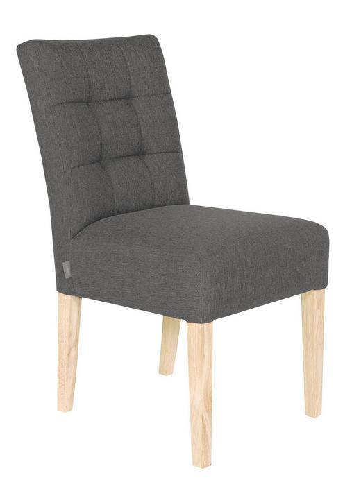 STUHL Webstoff Eichefarben, Grau - Eichefarben/Grau, Design, Holz/Textil (48/93/66cm) - Carryhome