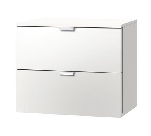 NACHTKÄSTCHEN Weiß  - Alufarben/Weiß, KONVENTIONELL, Metall (50/42/42cm) - Carryhome