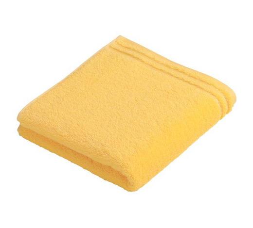 RUČNÍK, 50/100 cm, žlutá - žlutá, Basics, textil (50/100cm) - Vossen