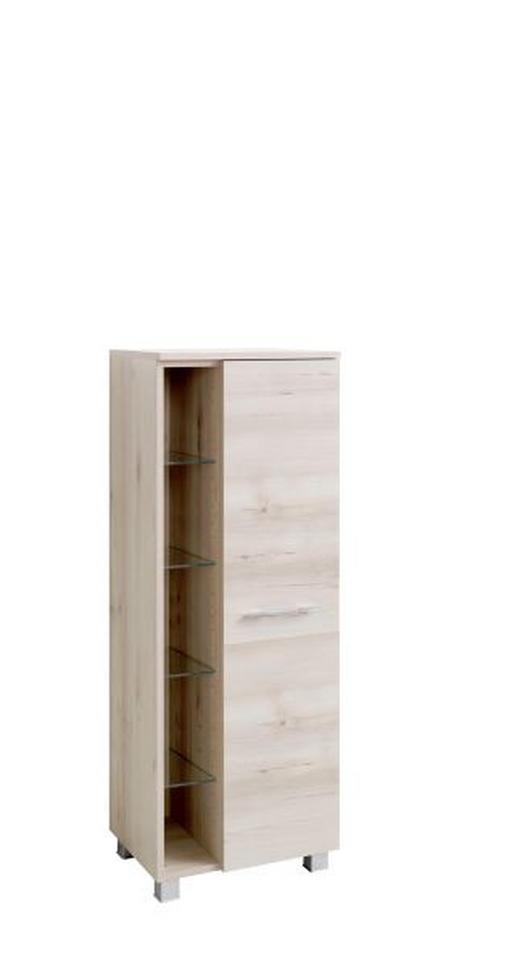 MIDISCHRANK Buchefarben - Chromfarben/Buchefarben, Design, Glas/Holzwerkstoff (45/122/35cm) - Carryhome