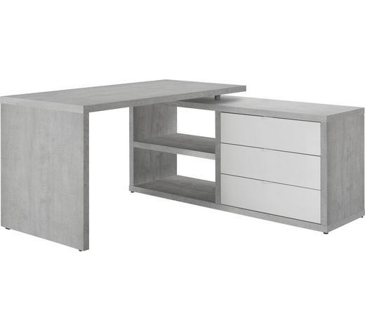 Eckschreibtisch Grau Weiß Online Kaufen Xxxlutz