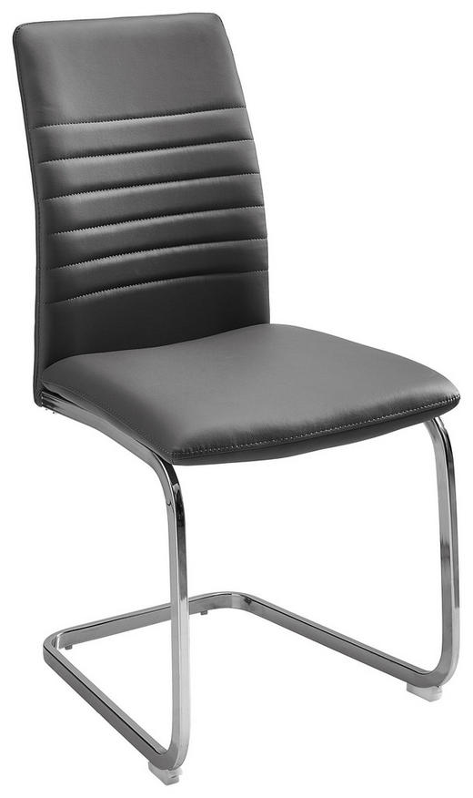 SCHWINGSTUHL in Textil Grau, Chromfarben - Chromfarben/Grau, Design, Textil/Metall (47/96/58cm) - Carryhome