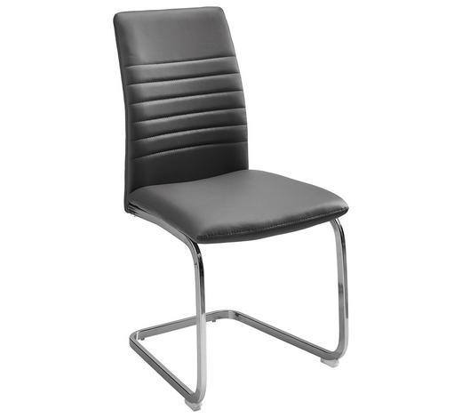SCHWINGSTUHL Lederlook Grau, Chromfarben - Chromfarben/Grau, Design, Textil/Metall (47/96/58cm) - Carryhome