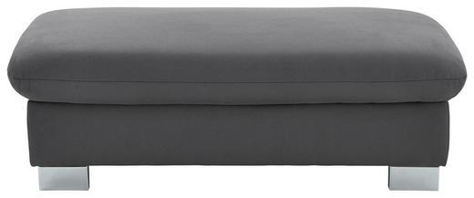 HOCKER Mikrofaser Grau - Grau, KONVENTIONELL, Textil/Metall (133/44/66cm) - Beldomo System