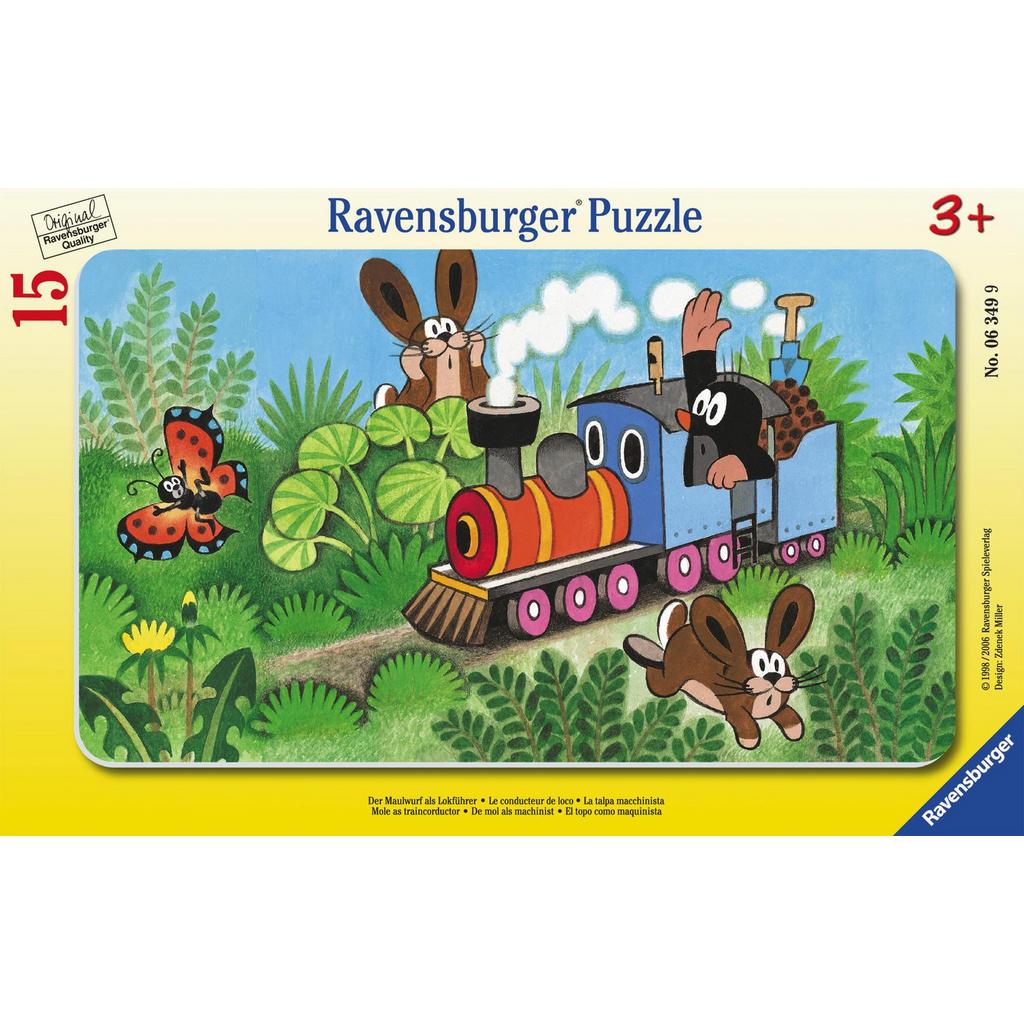 15-teiliges Puzzle 'Der kleine Maulwurf als Lokführer' von Ravensburger