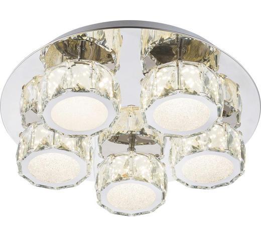 LED-DECKENLEUCHTE   - Chromfarben, Design, Glas/Metall (40cm)