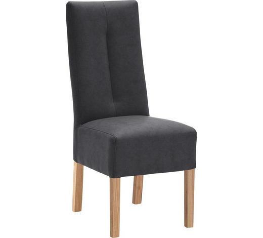 STUHL Lederlook Anthrazit  - Anthrazit, Design, Holz/Textil (44/103/63cm) - Carryhome