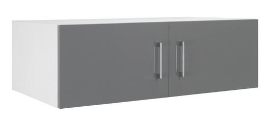 AUFSATZSCHRANK - Chromfarben/Weiß, KONVENTIONELL, Holzwerkstoff/Metall (100/32/57cm) - WELNOVA