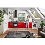 ECKKÜCHE 120/301,6 cm  - Rot/Weiß, MODERN, Holzwerkstoff (120/301,6cm) - Xora