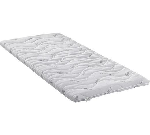 VRCHNÍ MATRACE, 120/200 cm,  - bílá, Basics, textil (120/200cm) - Sleeptex